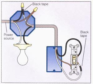 Power Light Way Switch Wiring Diagram Rafmagn
