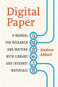 Digital Paper  A Manual For Research And Writing With
