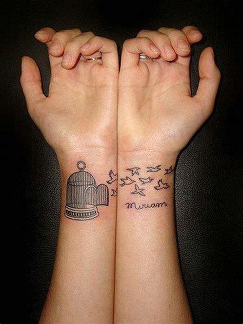 stunning couples wrist tattoo