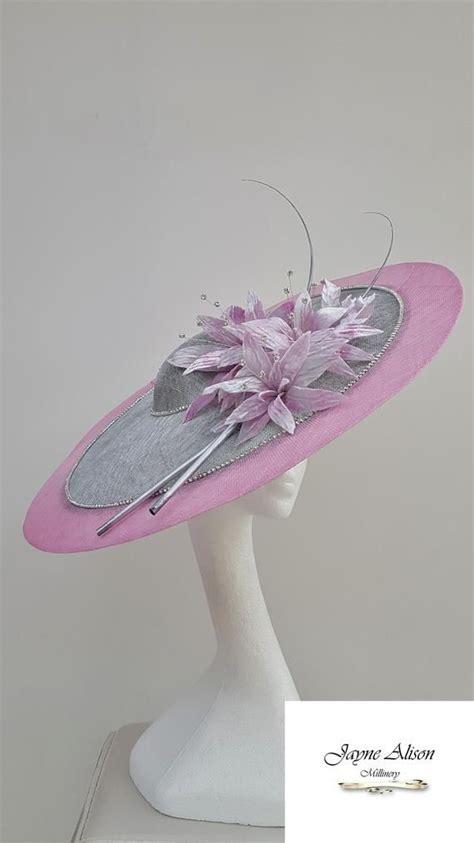 stunning silver  pink hatinator wedding hat mother
