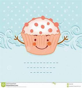 Tea Party Invitation Vintage Style Frame Funny Cupcake ...