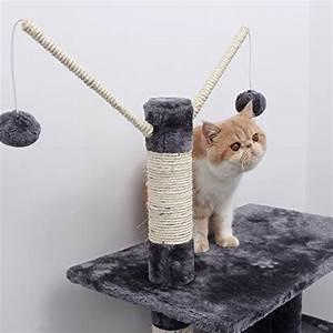 Arbre A Chat Solide : arbre chat tr s solide avec hamac arbre chat gris ~ Mglfilm.com Idées de Décoration