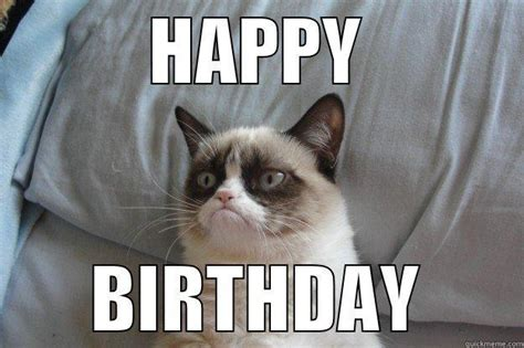 Grumpy Cat Meme Happy Birthday - grumpy wish quickmeme