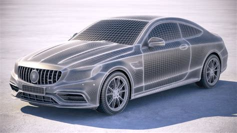 Morocco shows us a subtle mansory s 63 amg. Mercedes C63 S AMG Coupe 2019 3d model - CGStudio