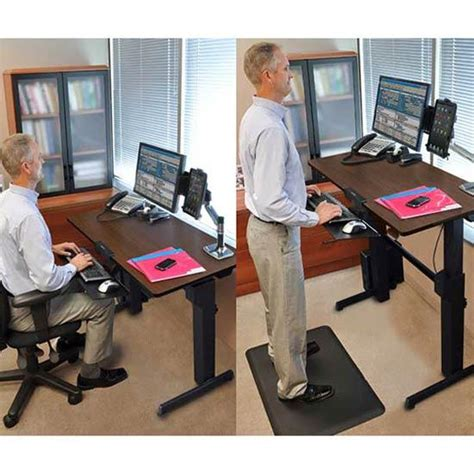 up and down desk amazon com ergotron workfit d sit stand desk walnut