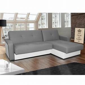 canape d39angle gris et blanc convertible With canape convertible blanc et gris