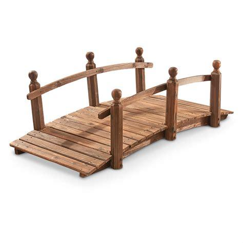 castlecreek wooden garden bridge 657792 decorative