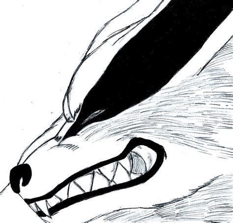 naruto kurama sketch  shadow chan  deviantart
