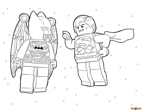 Aquaman Superhero Lego Coloring Pages Images Pictures