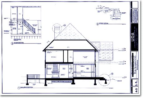 house plan blueprints uda sle construction documents and building section