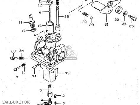 Suzuki Jr 50 Parts by Suzuki Jr 50 Carburetor Diagram 2005 Suzuki Eiger Parts