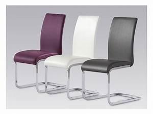Chaise En Cuir Noir : chaise en simili cuir noir 9 id es de d coration int rieure french decor ~ Teatrodelosmanantiales.com Idées de Décoration