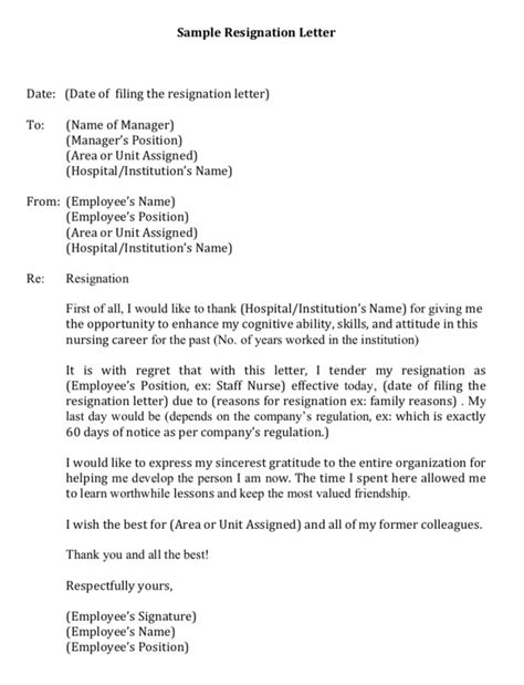 My first resignation as a Filipino Nurse in Singapore - with a sample letter of resignation