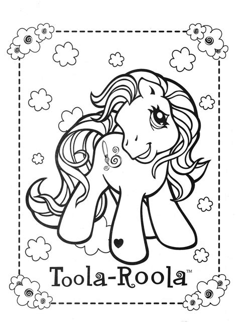 pony coloring page mlp toola roola