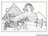 Coloring Egyptian Pyramids Pages Colorkid Architecture sketch template