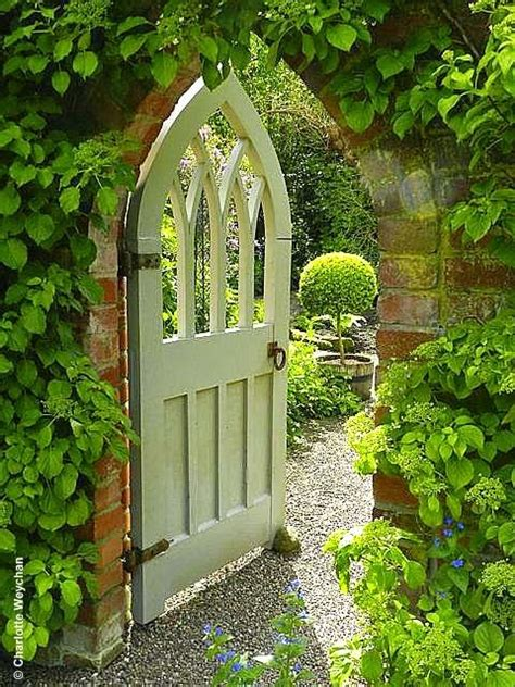 gardens wooden gates and beautiful on