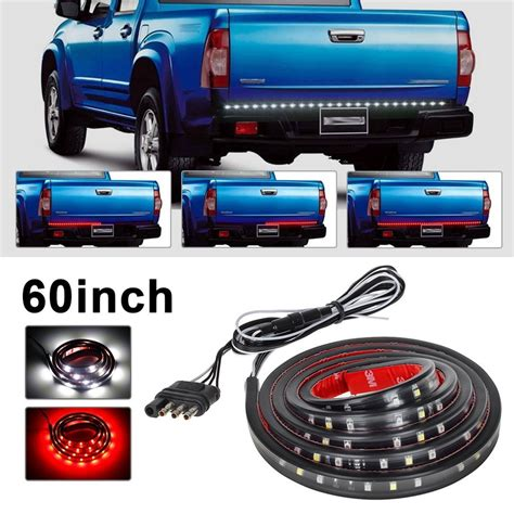 ledglow 60 inch red led 60 inch red white tailgate led strip light bar pickup