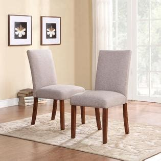 dorel home furnishings set of 2 taupe linen parsons chairs