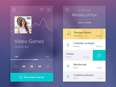 media players  mobile user interfaces  examples