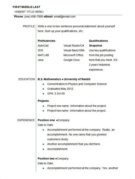 Posts related to undergraduate resume template doc. 24+ Student Resume Templates - PDF, DOC | Free & Premium Templates