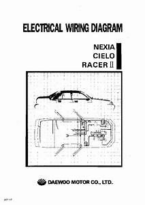 Daewoo Nexia Cielo Racer Ii Electrical Wiring Diagram Service Manual Download  Schematics