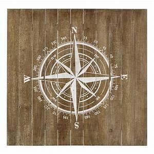 Wanddekoration KOMPASS aus Holz, 90 x 90 cm Maisons du Monde