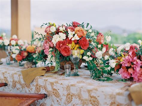 Elena Damy A Mexican themed Wedding Centerpiece We Love