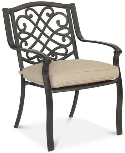 park gate cast aluminum outdoor dining chair furniture