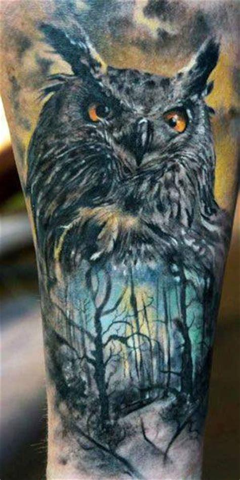 tatouage hibou chouette  inkage