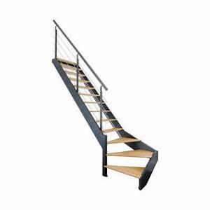 Escalier Quart Tournant Gauche : escalier 1 4 tournant gauche spark led castorama ~ Dailycaller-alerts.com Idées de Décoration