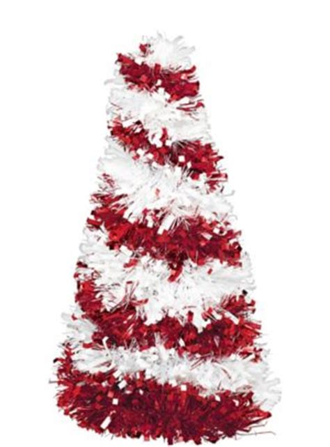 candy cane tinsel christmas tree    party city