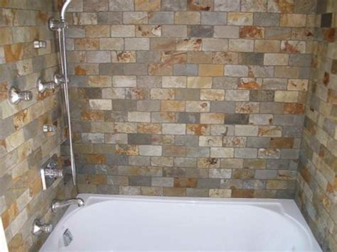 bathroom tile patterns shower with stone material