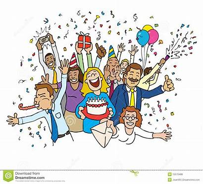 Celebration Cartoon Office Illustration