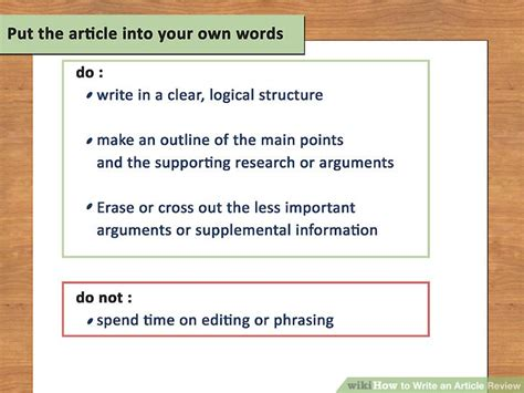 How To Write An Article Review (with Sample Reviews) Wikihow