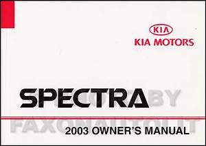 2003 Kia Spectra Electrical Troubleshooting Manual Original