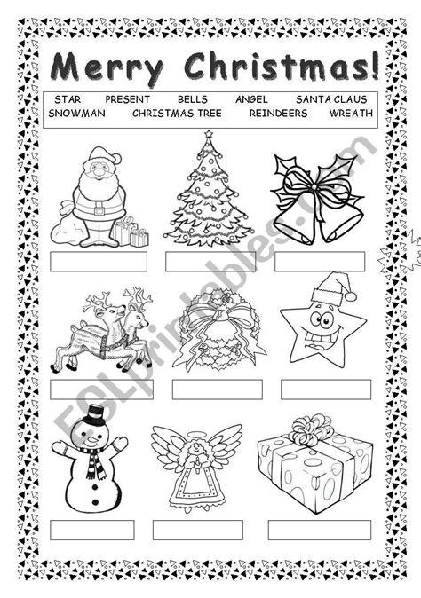 merry christmas esl worksheet by blackdevil555