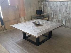 emejing table salle a manger style atelier ideas With table de salle a manger