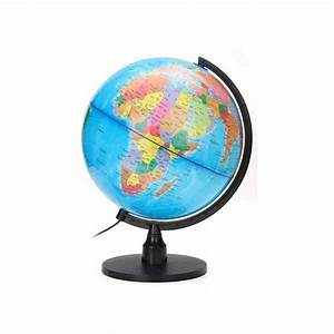 Lampe Globe Terrestre : globe terrestre lampe lumineuse rotatif 25 cm 21225 ~ Teatrodelosmanantiales.com Idées de Décoration