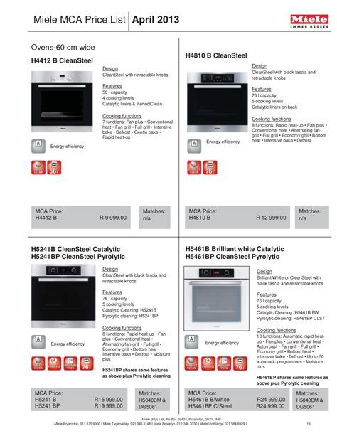 Download free pdf for Miele MasterChef H4882BP Oven manual