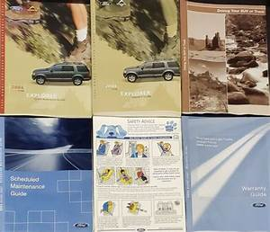2004 Ford Explorer Owners Guide Handbook  04 Ford Explorer