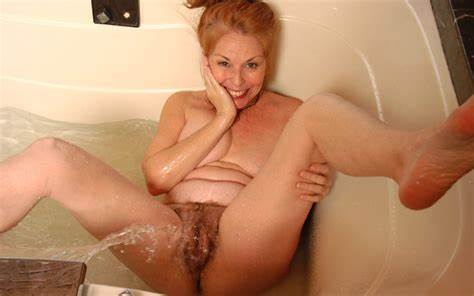 Ripe Kinky Bath Stretched Pigtails Granny With Hairless Muff Take A Dogging