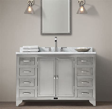 laboratory stainless steel single extra wide vanity
