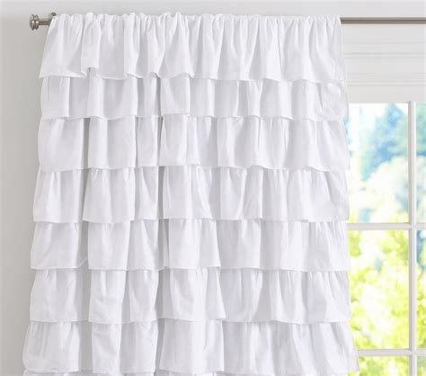 ruffle blackout curtain pottery barn kids