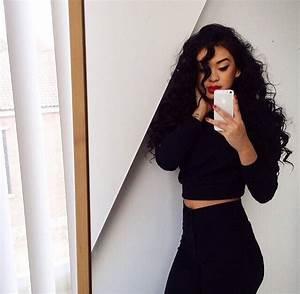 Baddies beautiful curly hair girls long hair pretty girls style - image #3432864 by ...