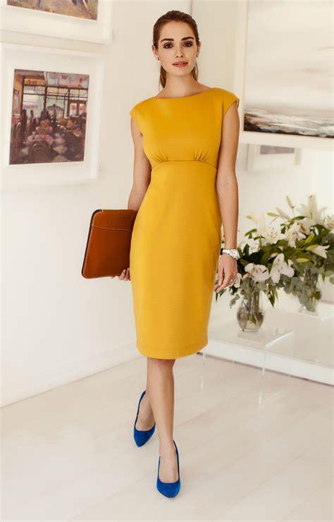 Pippa Shift Day Dress Artisan Gold - Evening Dresses