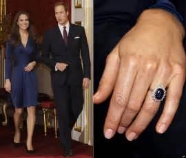 kate middleton engagement ring kate middleton engagement ring diana 39 s former ring debuted by future princess photos huffpost