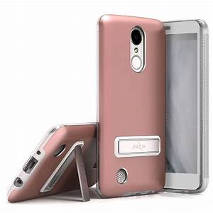 For Lg K4 2017    K8 2017 Zizo Elite Case Magnetic Kickstand Metallic Cover