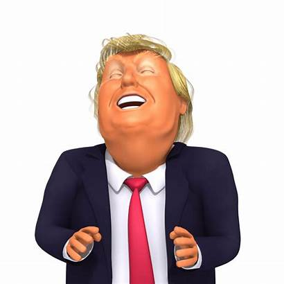 Trump Laugh 3d Caricature Donald Cartoon Funny