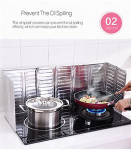 Anti-splatter Shield Guard Cooking Frying Pan Oil Splash ...