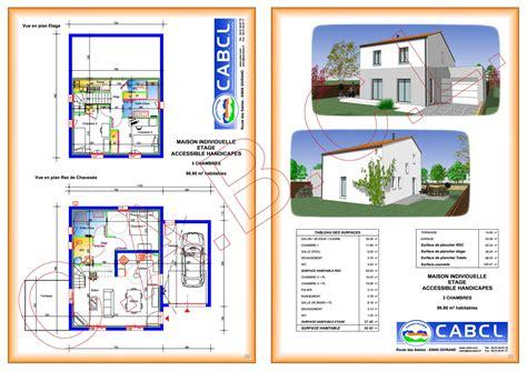 plan maison a etage 3 chambres plan maison individuelle 3 chambres